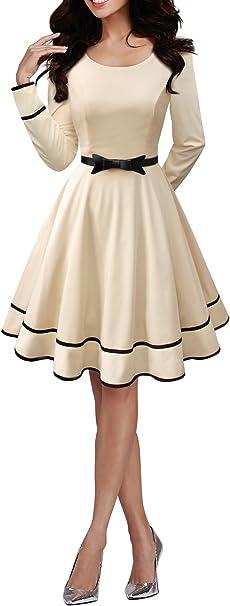 TALLA ES 46 (XXL). BlackButterfly 'Grace' Vestido Vintage Clarity Champán ES 46 (XXL)