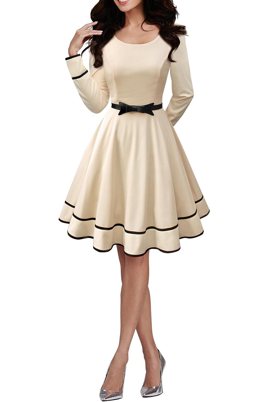 TALLA ES 42 (L). BlackButterfly 'Grace' Vestido Vintage Clarity Champán ES 42 (L)