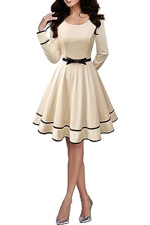 c61797c928c4bf BlackButterfly 'Grace' Vintage Clarity Kleid im 50er-Jahre-Stil (Champagner,