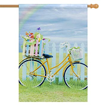Amazon com : INTERESTPRINT Bicycle Bike on Green Grass with