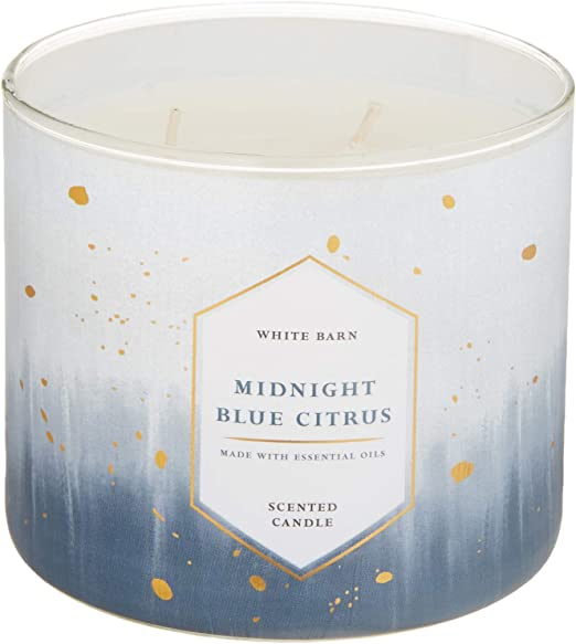 1 Bath /& Body Works scented 3-Wick Filled Candle White Barn Lemon 14.5 oz NEW