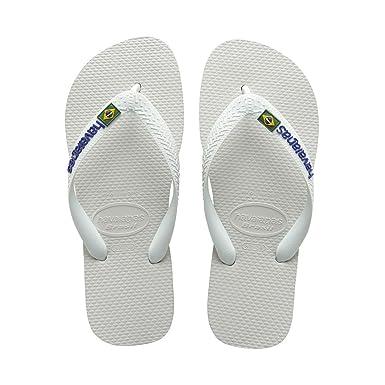 da5fa05b4 Havaianas Brasil Logo White - Adult Unisex 35 36 uk  Amazon.co.uk  Shoes    Bags