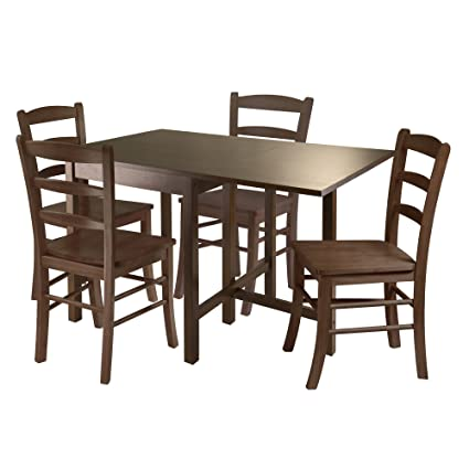 271e9a8fb4ae Image Unavailable. Image not available for. Color  Winsome Wood Lynden  5-Piece Dining Table with 4 Ladder Back Chairs