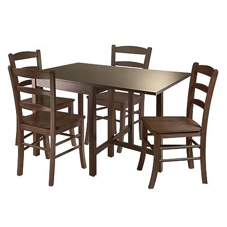 Amazon.com: Winsome Lynden 3 piezas Mesa de comedor con ...