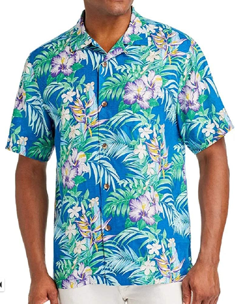 Tommy Bahama Hilo Gardens Silk Camp Shirt