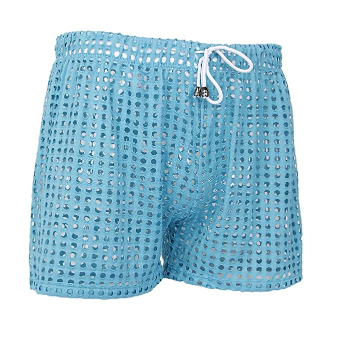 Baoblaze Pantalones Cortos Transpirables Tirantes Poliéster con Cordones Deporte Gimnasio Ropa - Azul, S