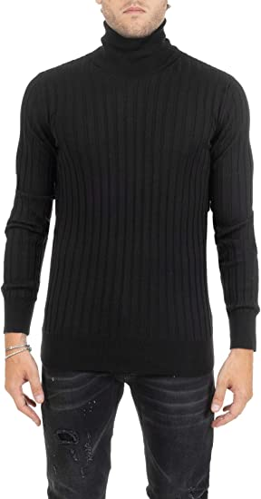 DONDUP – Camiseta Negra de Cuello Alto Dolcevita Negro 50: Amazon ...
