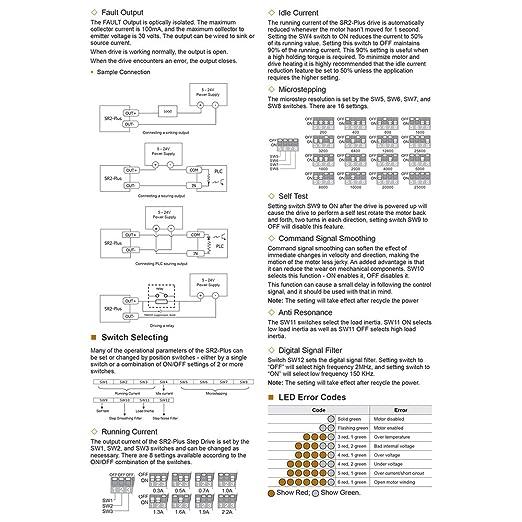 Amazon com: MOONS' SR2-Plus Stepper Motor Driver 2 Phase Nema8