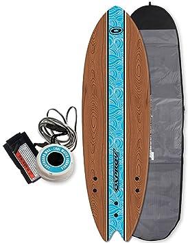 Osprey Kids – Tabla de surf de espuma de principiantes del paquete 5 FT 8 –