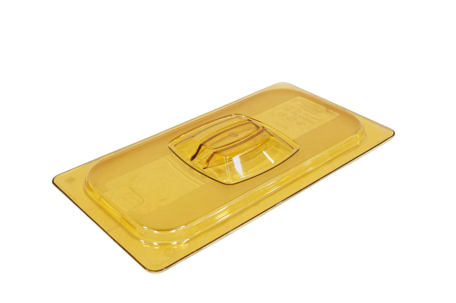 Rubbermaid Commercial 1/3-Size Hot Food Container Cover, Amber, FG221P23AMBR 4U-00856
