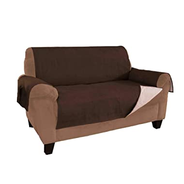 Link Shades Furniture Fresh - New and Improved Anti-Slip Grip Furniture Protector with Stay Put Straps and Water Resistant Microsuede Fabric (XL Sofa, Chocolate)