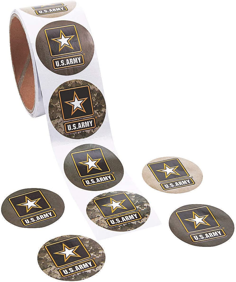 Stickers Roll Us Army Stickers Stickers 1 Piece Fun Express Stationery