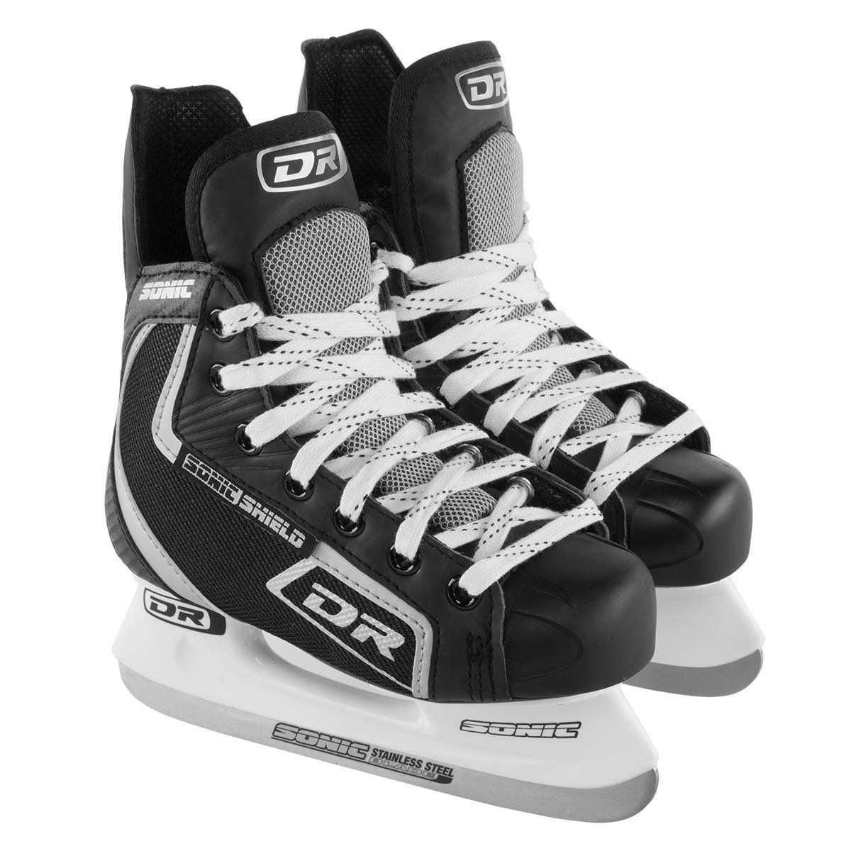 DR Sports 113 Men's Hockey Skate Black/Silver, Size 12 by Dr Dry