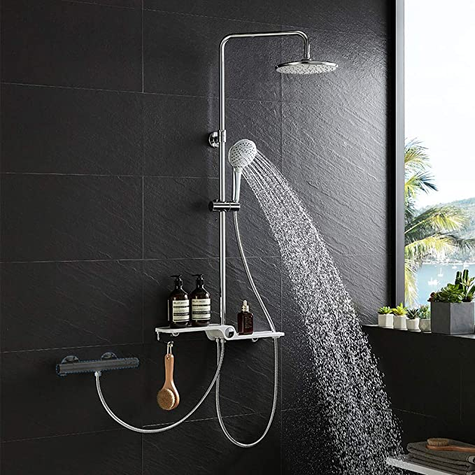 Lonheo termostática Sistema de ducha de acero inoxidable de 2 ...