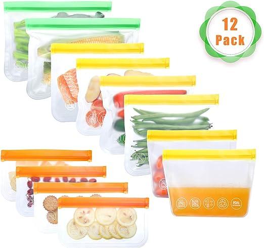 Bolsas de alimentos reutilizables, bolsas de almacenamiento ...
