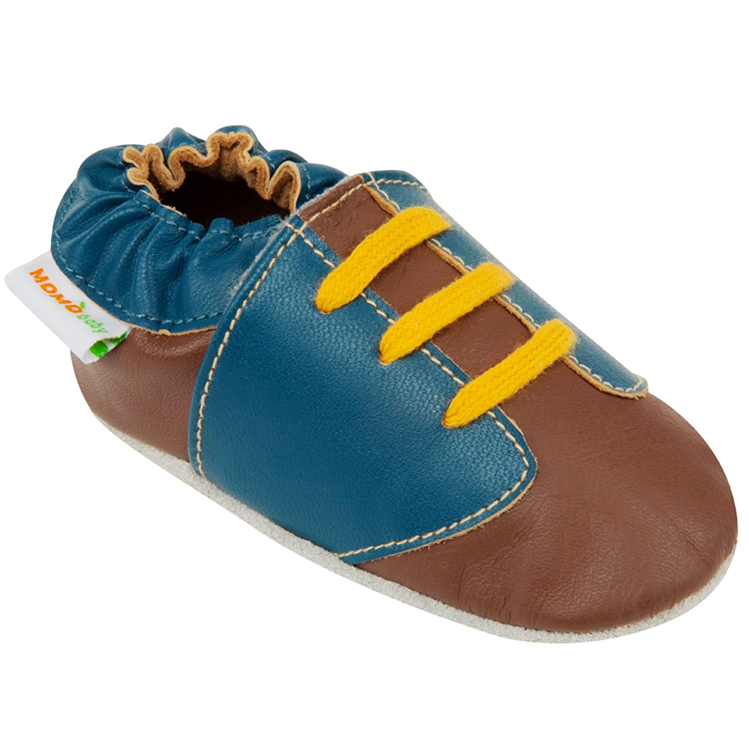 0-6 Months Momo Baby Boys Soft Sole Leather Shoes Sneaker