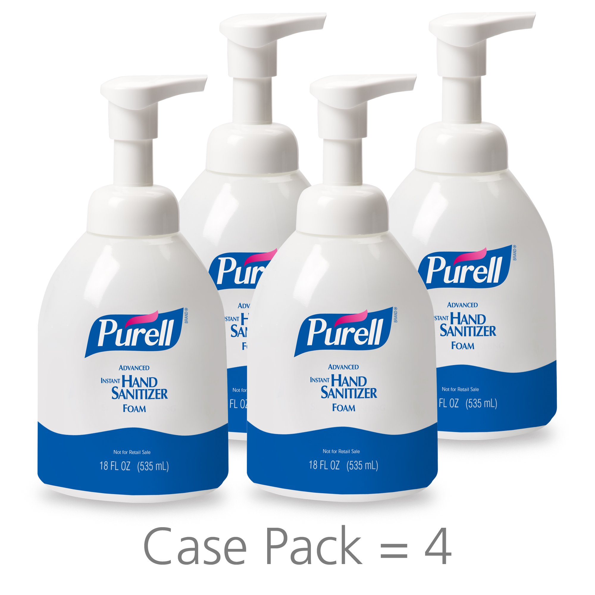 PURELL Healthcare Advanced Hand Sanitizer Foam, Clean Scent, 18 fl oz Pump Bottle (Pack of 4) - 5792-04 by Purell