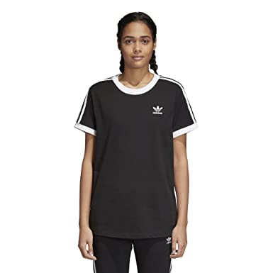 556956de adidas Originals Women's 3 Stripes T-Shirt at Amazon Women's ...