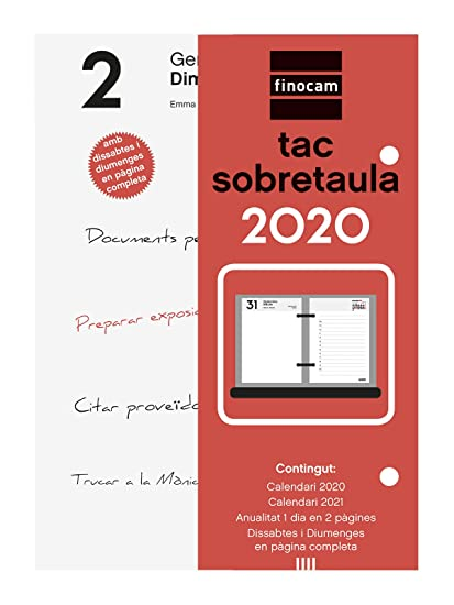 Finocam - Taco 2020 1 día en 2 páginas catalán