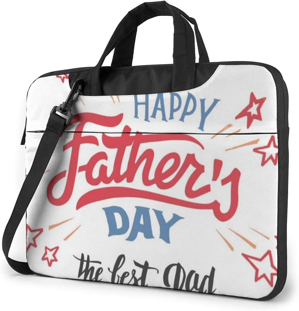 Happy Fathers Day Dad Laptop Bag Messenger Bag Briefcase Satchel Shoulder Crossbody Sling Working Bag 15.6 Inch