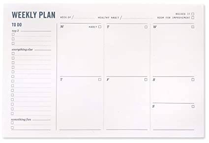 amazon com weekly planning pad weekly planner notepad with to do