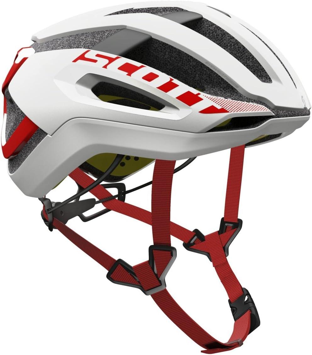 Scott bici Casco centric plus (ce) white/red l: Amazon.es ...