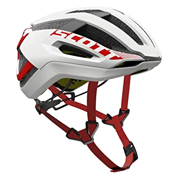 Scott bici Casco centric plus (ce) white/red l