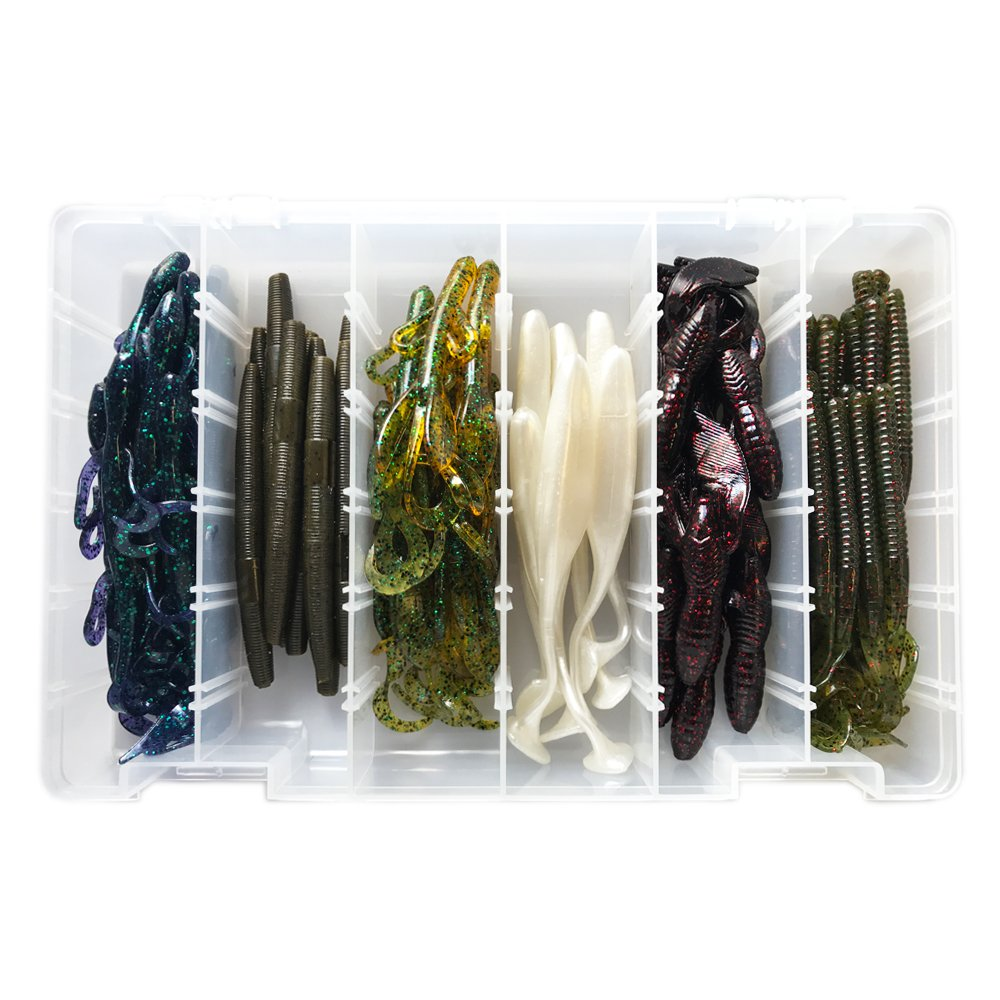 Bass Fishing Lures Tackle Box Set Made in The USA 60 Pieces by TACKLE CRAFTERS