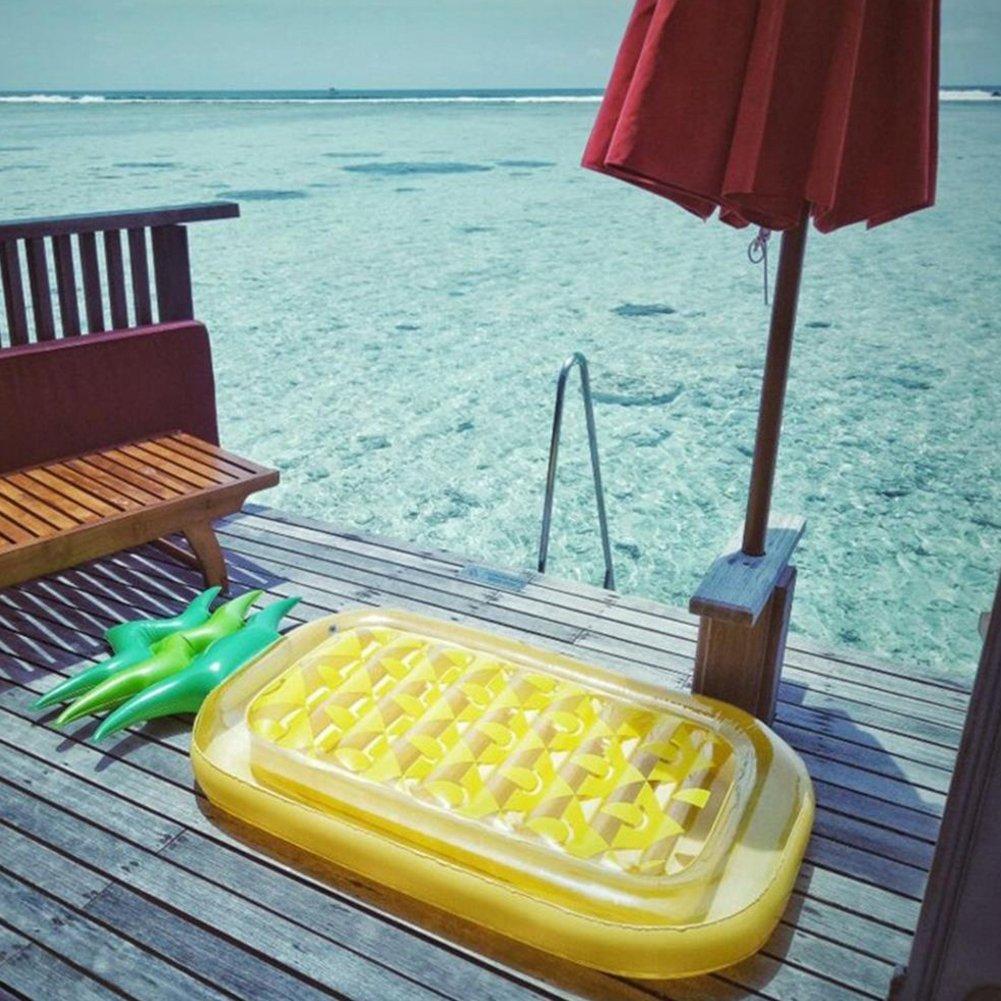 Juguetes gigantes de la natación - balsa inflable del flotador de la piscina de la piña - juguete inflable grande del flotador de la piscina al aire libre ...