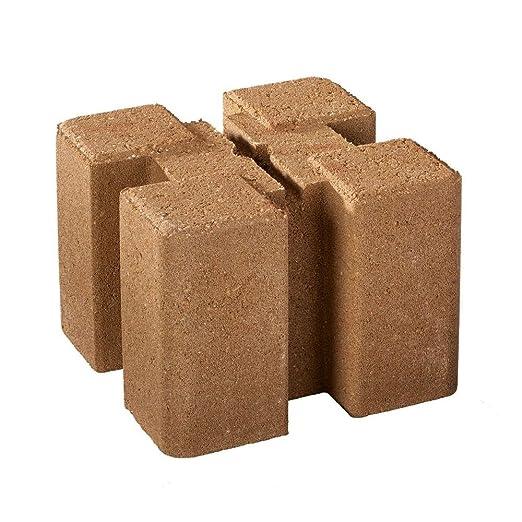 oldcastle pila y enlace maceta pared bloque en marrón marrón ...