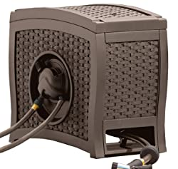 Best Hideaway Decorative & Retractable: Suncast Aquawinder 125' Wicker