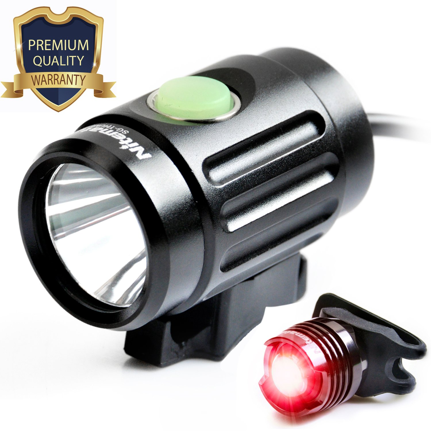 Bike Light Set-1000 Lumens USB Rechargeable Bicycle Headlight With Free Taillight, Best Bike Light Front and back Lighting Combinations