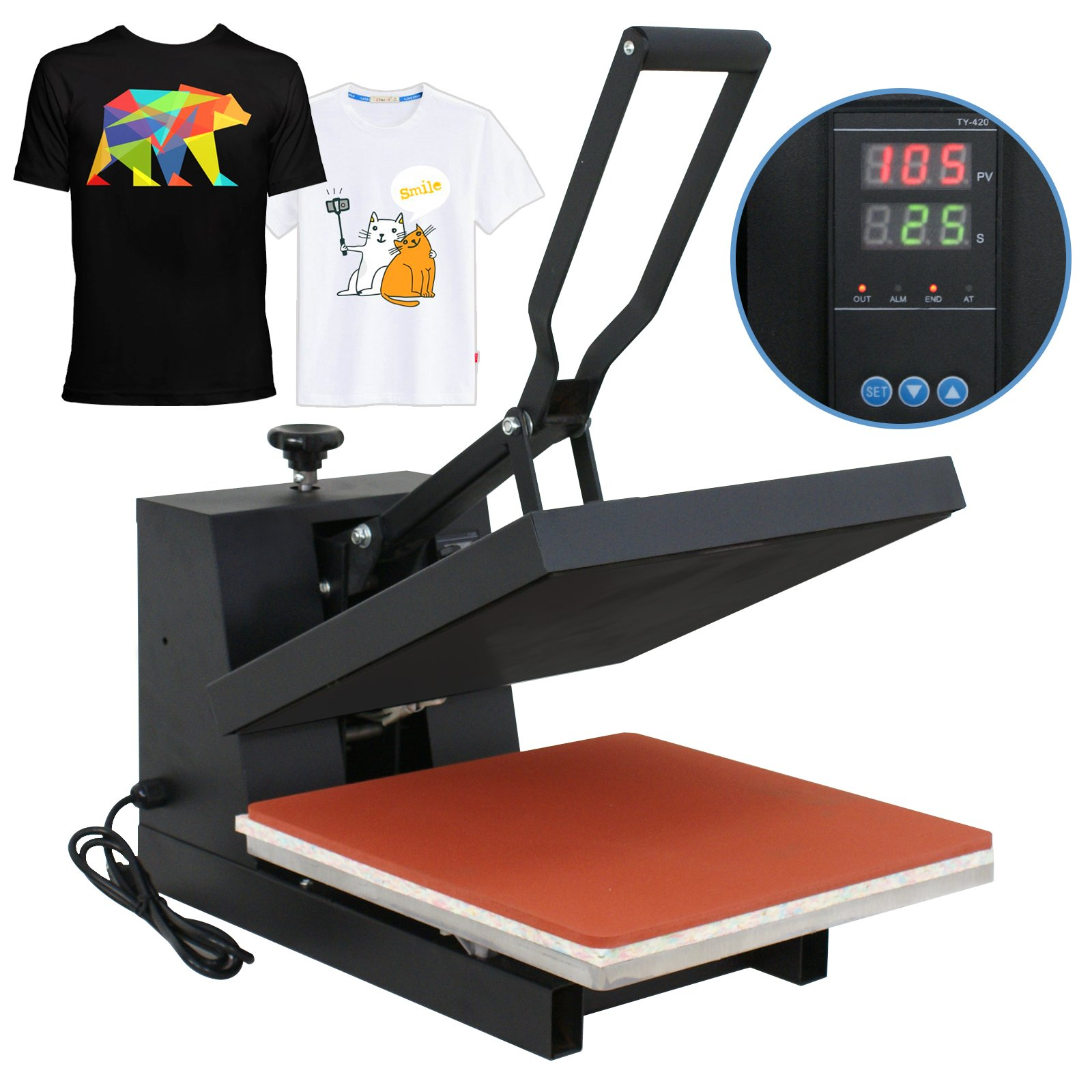 Super Deal 15'' X 15'' Digital Heat Press Clamshell Transfer Machine for T-Shirt by SUPER DEAL