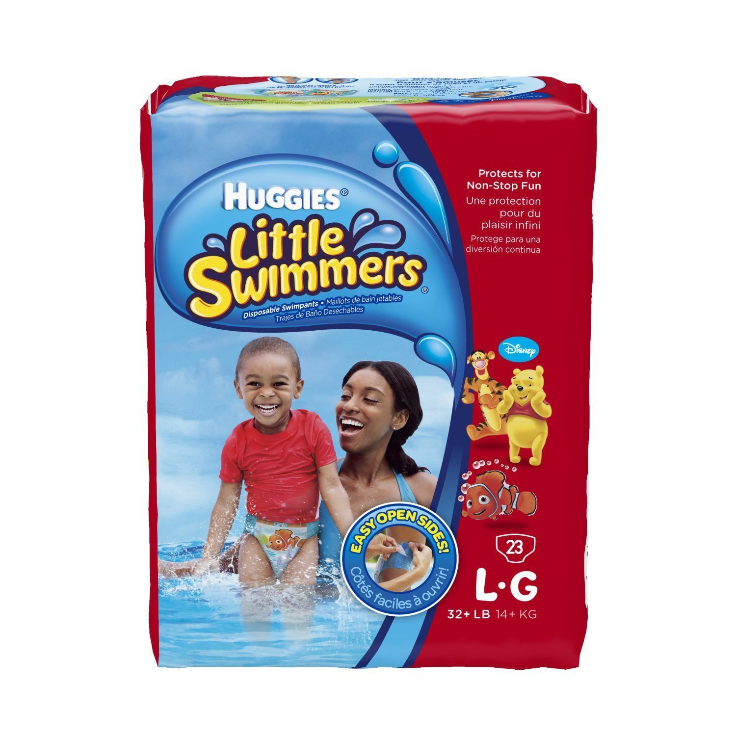 Amazon.com: Huggies Little Swimmers Disposable Swimpants (Character May  Vary) 23 ct - L-G: Health & Personal Care