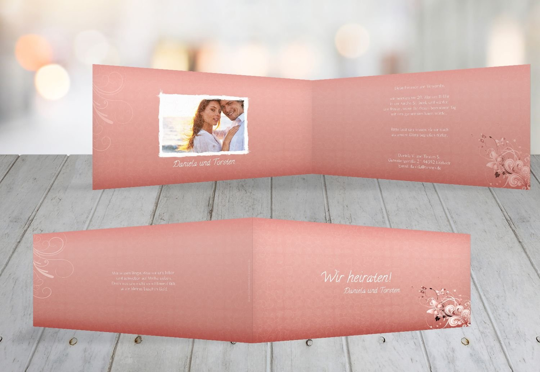 Kartenparadies Hochzeitskarte Hochzeit Einladung Din Liebeswunder, hochwertige Einladung zur Heirat inklusive Umschläge   10 Karten - (Format  215x105 mm) Farbe  RosaRosa B01NCXT8L6 | New Product 2019  | Mittel Preis  | Eine Große Vielfalt An Model