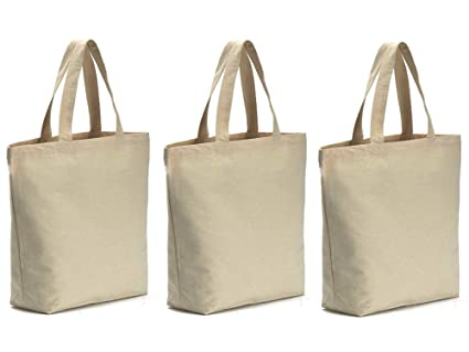 "12f7e9073 Axe Sickle Canvas Tote Bag 3PCS Bottom Gusset 16"" W X 16"" H X  4.2"""