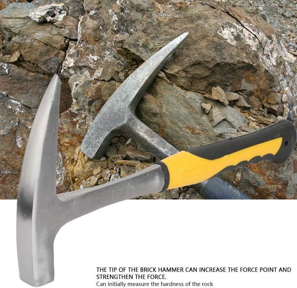 Geologischer Backstein-Entenschnabel-R/öhrenschaft-Backsteinhammer mit doppeltem Kopf und flachem Mund f/ür die geologische Vermessung Mauerziegel S