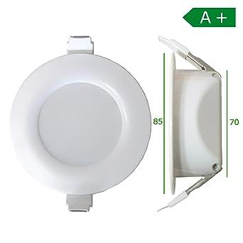 Spot LED Encastrable Pour Salle De Bain 8,5 Cm Plat 650 Lumens IP44 Avec