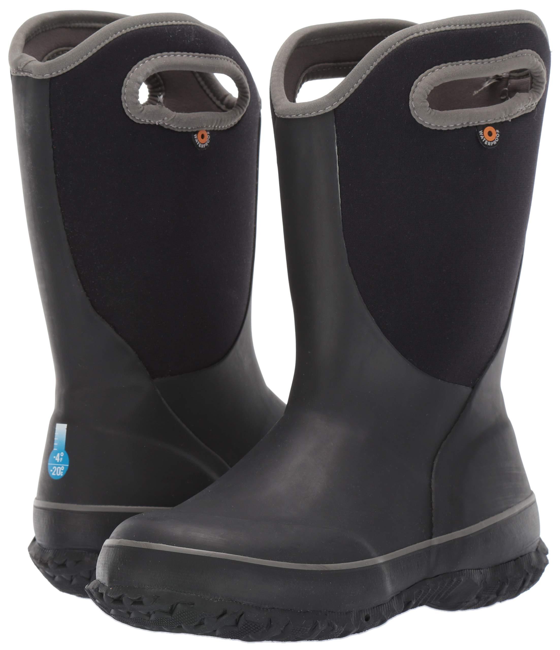 Bogs Unisex Slushie Snow Boot, Solid Black/Multi, 5 Medium US Big Kid by Bogs (Image #5)