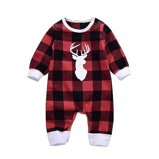 37bc12288 Amazon.com  Newborn Infant Baby Boys Girls Long Sleeve Christmas ...