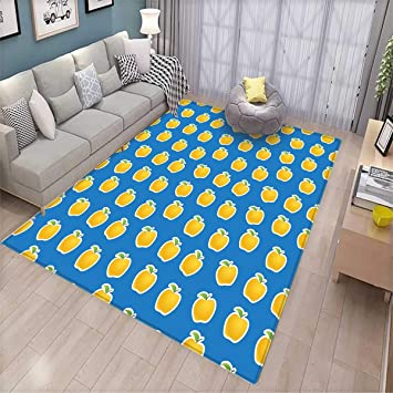 Amazon Com Apple Room Home Bedroom Carpet Floor Mat Yellow Clipart