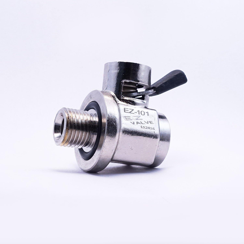 """1//2/""""-20UNF /& L-Shaped Hose End L-001 COMBO EZ Engine Oil Drain Valve EZ-101"""