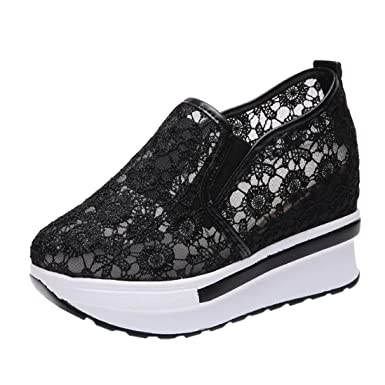 2fc1ea8a9b9 Aurorax-Shoes Clearance Sale Women's Girls Mesh Sports Shoes,Lightweight  Breathable Casual Wedges Sneakers