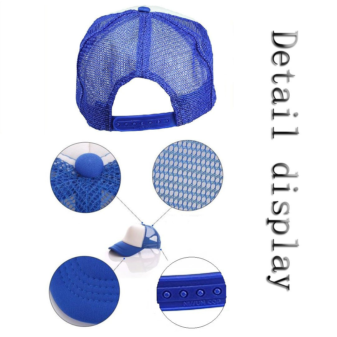 Custom Breathable Trucker Mesh Hat,Adjustable Snapback Hat for Men & Women for Leisure and Sport by NAIVEA (Image #4)