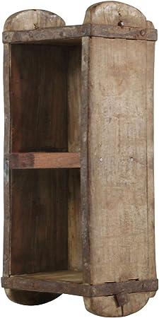 Estante De Madera Pequeño Antiguo Cajón Caja de Almacenamiento de Madera Vintage Doble Molde de ladrillo