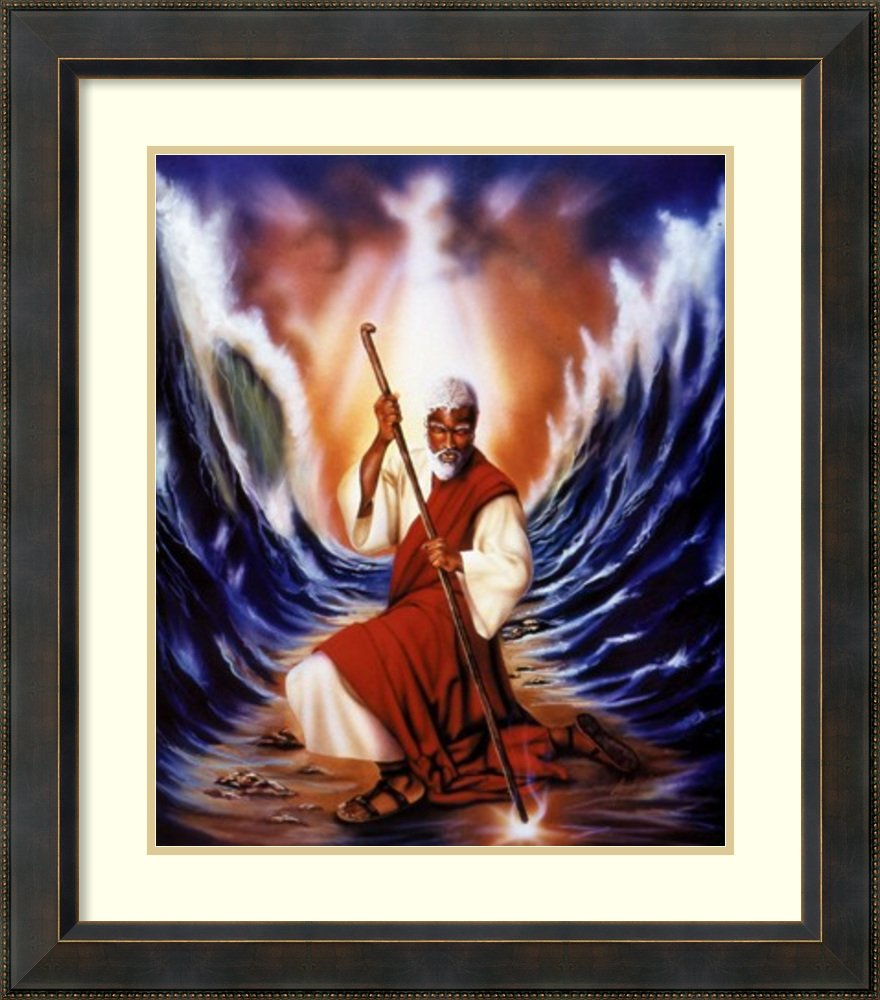 アートフレーム印刷' MosesパーティングThe Red Sea ' byアーロンヒックス Size: 27 x 31 (Approx), Matted 3926191 Size: 27 x 31 (Approx), Matted Signore Bronze,mat:pure White (Off White) B01NBVX3KY
