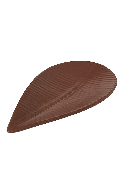 Sobremesa Fair Trade Leaf Serving Plate Terracotta