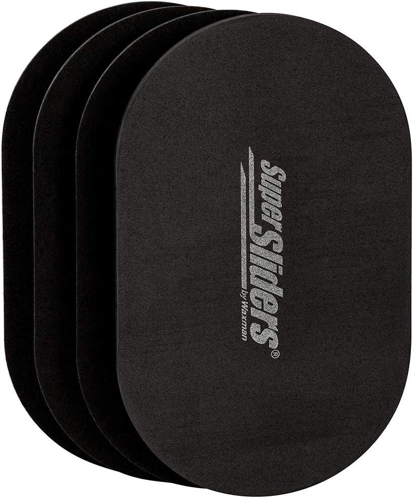 SuperSliders 4766595N Reusable XL Heavy Furniture Movers for Hardwood Floors- Felt Floor Protectors, 9-1/2