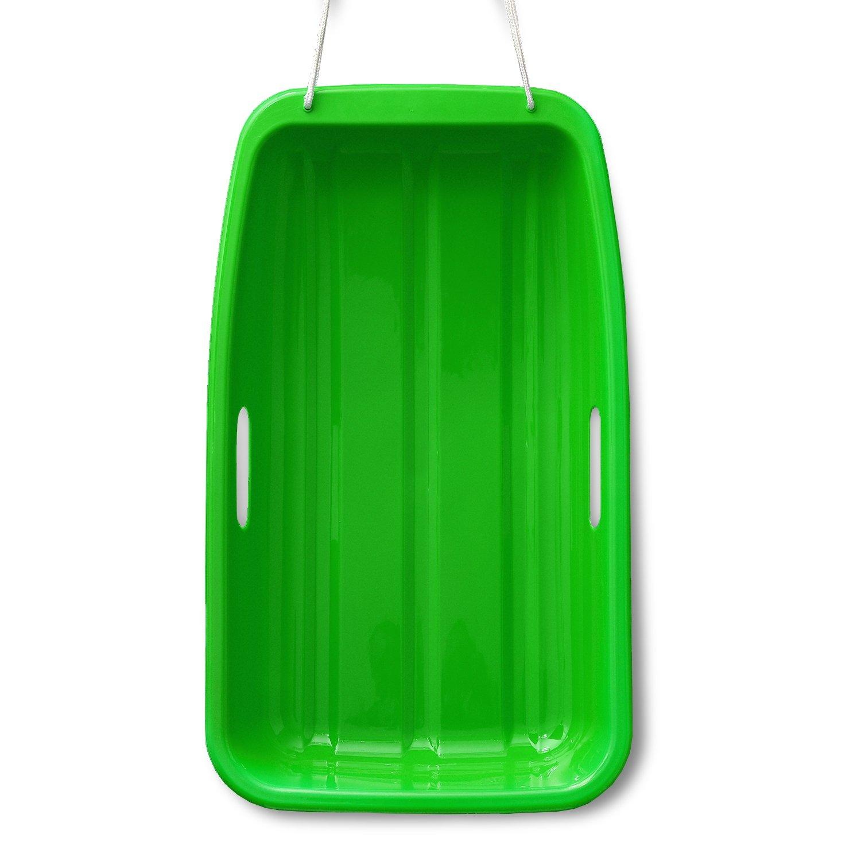AGPtek Plastic Outdoor Toboggan Snow Sled for Child,25.6-Inch,Green