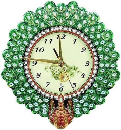 Amazon Com Huanxidp Wall Clocks Diy Full Drill Special Shape Diamond Painting Grape Clock Embroidery Wall Clock Home Decoration Diamond Craft 26x26cm Home Kitchen